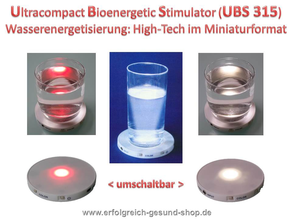 Bild 1 von Ultracompact Bioenergetic Stimulator UBS 315  High-Tech Wasserenergetisierung in Miniformat Jossner