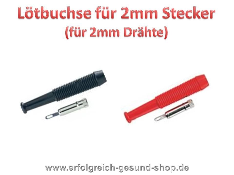 Lötbuchsen für 2mm-Stecker (2 Paar) rote u. schwarze Buchse / keine ...
